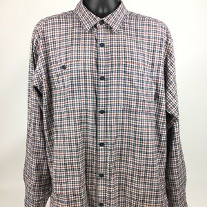 Patagonia men's long sleeve flannel SZ L